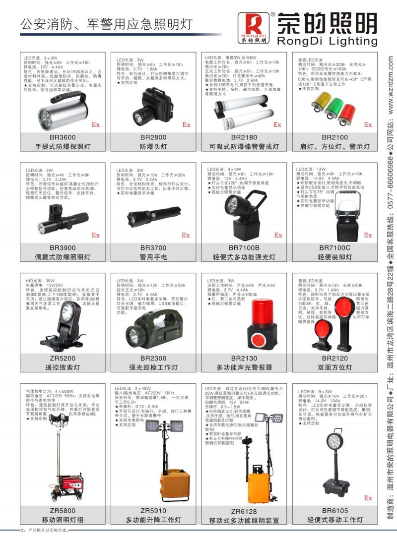公安消防、警用常备应急灯具